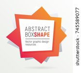 square polygon banner. flashy...   Shutterstock .eps vector #745589077