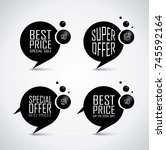 price bubble set with discount... | Shutterstock .eps vector #745592164