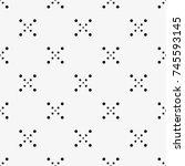 vector seamless pattern. modern ... | Shutterstock .eps vector #745593145