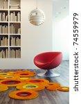 design of lounge room  3d render   Shutterstock . vector #74559979