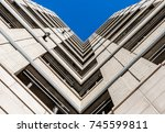 abstract image of looking up at ... | Shutterstock . vector #745599811
