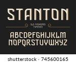 stanton decorative vector... | Shutterstock .eps vector #745600165