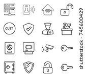 thin line icon set   server ...   Shutterstock .eps vector #745600429