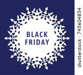 illustration vector of black... | Shutterstock .eps vector #745604854
