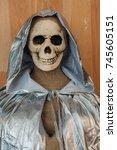 halloween skeleton decoration | Shutterstock . vector #745605151