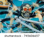 halloween skeleton decoration | Shutterstock . vector #745606657