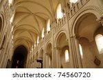 caen   abbaye aux dames in...   Shutterstock . vector #74560720