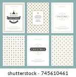 merry christmas greeting cards... | Shutterstock .eps vector #745610461