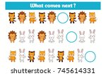 what comes next educational... | Shutterstock .eps vector #745614331