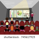business seminar | Shutterstock .eps vector #745617925