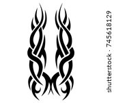 tattoo tribal vector designs.... | Shutterstock .eps vector #745618129
