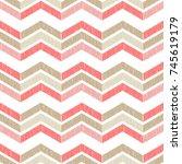 ethnic boho seamless pattern.... | Shutterstock .eps vector #745619179