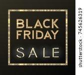 black friday sale background on ... | Shutterstock .eps vector #745626319