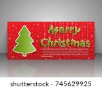 gift voucher template. merry... | Shutterstock .eps vector #745629925