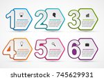 infographics template with... | Shutterstock .eps vector #745629931