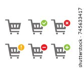 shopping carts icon set...