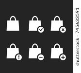 white shopping bags icon... | Shutterstock .eps vector #745633591