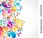 abstract background with bright ... | Shutterstock . vector #74563546
