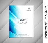 abstract blue business brochure ... | Shutterstock .eps vector #745639897