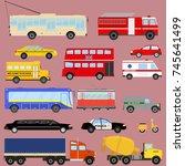 transport  public... | Shutterstock .eps vector #745641499