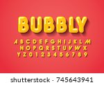 vector of stylized bold font... | Shutterstock .eps vector #745643941