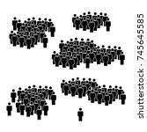 crowd icon style | Shutterstock .eps vector #745645585