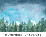 Landscape Painting Of Pine...
