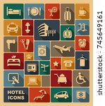icon on a theme of hotel service   Shutterstock .eps vector #745649161
