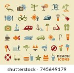 set of icons on a theme of... | Shutterstock .eps vector #745649179