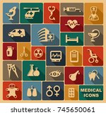 icons of pharmacology and...   Shutterstock .eps vector #745650061