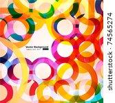rainbow circles | Shutterstock .eps vector #74565274