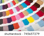 yarn thread sample  swatches... | Shutterstock . vector #745657279