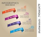 infographic template. vector... | Shutterstock .eps vector #745661479