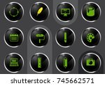 design professional web icons... | Shutterstock .eps vector #745662571