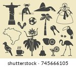 traditional symbols of culture... | Shutterstock .eps vector #745666105
