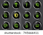 security and protection vector... | Shutterstock .eps vector #745666411