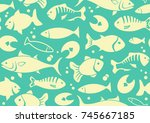 seamless background with... | Shutterstock .eps vector #745667185