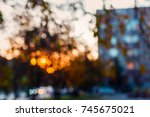 de focused cityscape in autumn | Shutterstock . vector #745675021