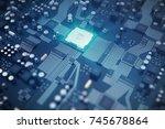circuit board. technology... | Shutterstock . vector #745678864