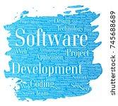 conceptual software development ... | Shutterstock . vector #745688689