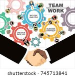 flat design illustration... | Shutterstock .eps vector #745713841