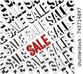 stock illustration   red sale ... | Shutterstock . vector #745714897