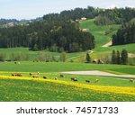 Spring in Emmen valley (Emmental), Switzerland - stock photo