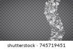 winter frame with white... | Shutterstock .eps vector #745719451