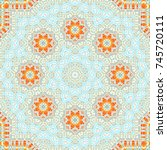 colorful symmetrical pattern... | Shutterstock . vector #745720111