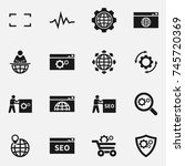 set of seo  icons. | Shutterstock . vector #745720369