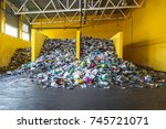 plastic bales at the waste... | Shutterstock . vector #745721071