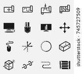 set of project vector icons.