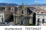 aerial photo of palermo italy... | Shutterstock . vector #745734637