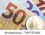 close up of colorful euro money.... | Shutterstock . vector #745737481